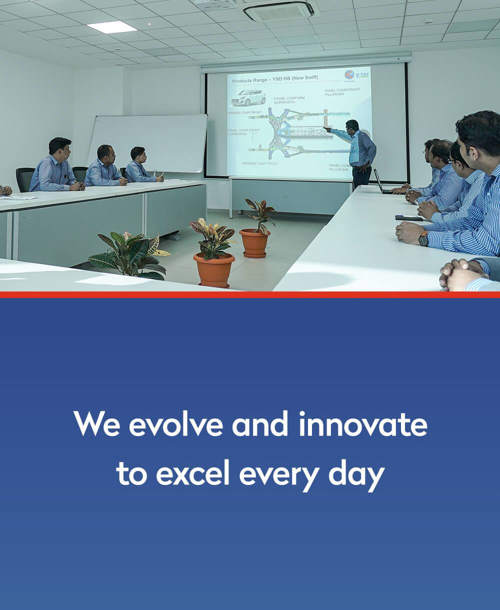 we evolve and innovate to excel every day